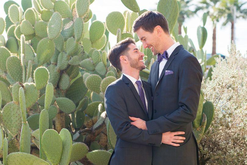 Two grooms desert wedding
