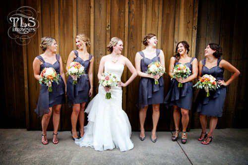 The blue dresses