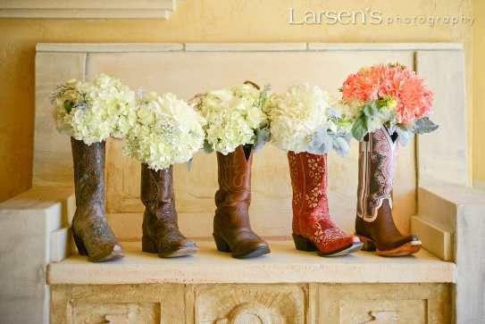 DIY Boot flower vase