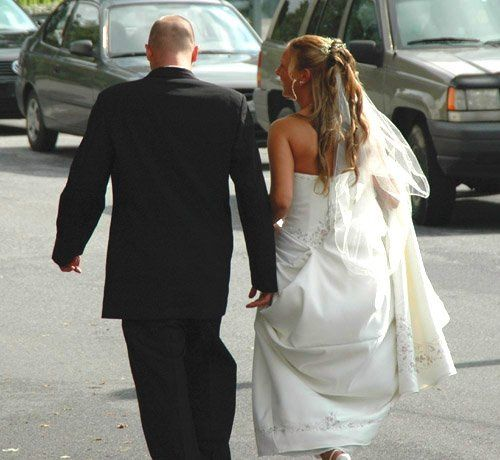 I always like to capture that intimate moment after the ceremony when the bride and groom slip away...