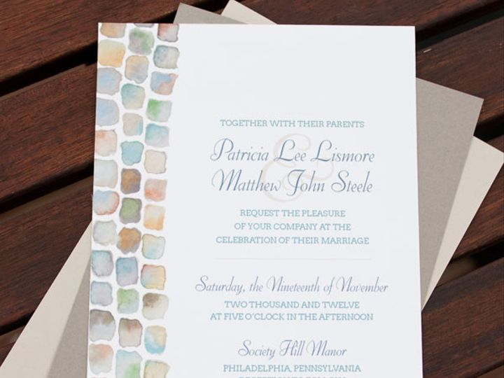 Tmx 1367503940957 Cobblestoneinvite1 Philadelphia wedding invitation