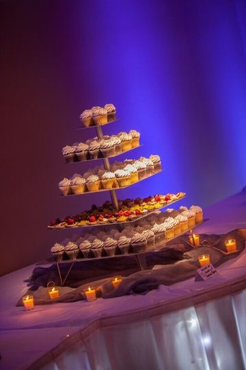 We offer two different cupcake stands, you may use when you book with us!