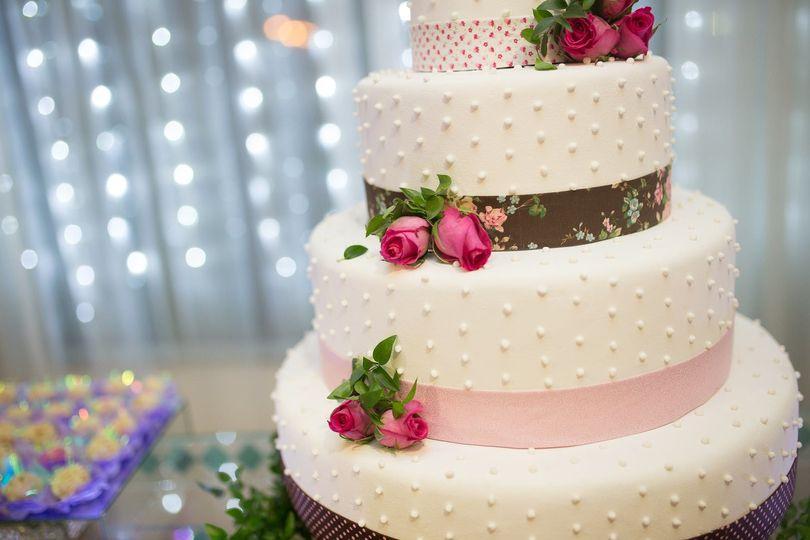 Cake with fondant