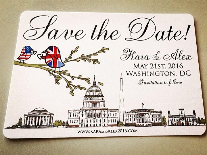 Tmx British American Lovebird Flag Save The Dates 51 633358 East Northport, NY wedding invitation