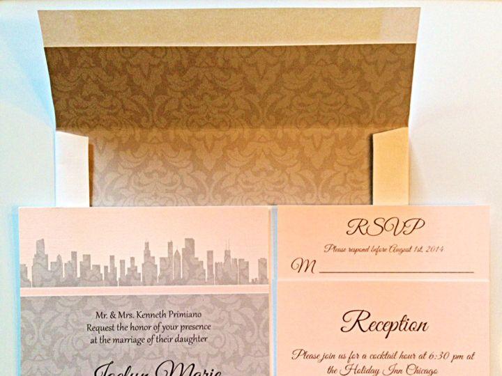 Tmx Custom Envelope Liner 51 633358 East Northport, NY wedding invitation