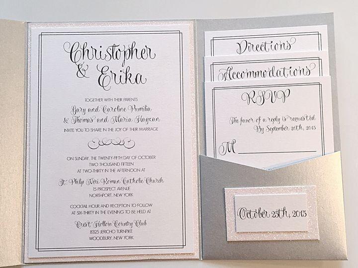 Tmx Glitter Backed Invites 51 633358 East Northport, NY wedding invitation