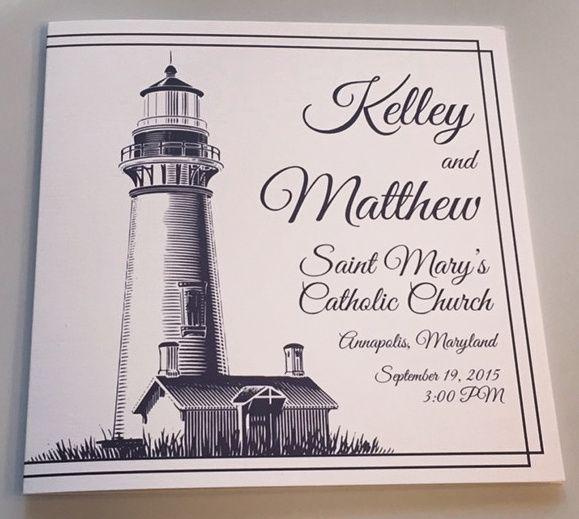 Tmx Nautical Program 51 633358 East Northport, NY wedding invitation