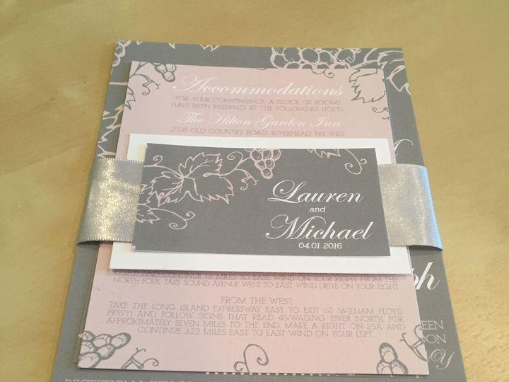 Tmx Ribbon Wrap Invite 51 633358 East Northport, NY wedding invitation