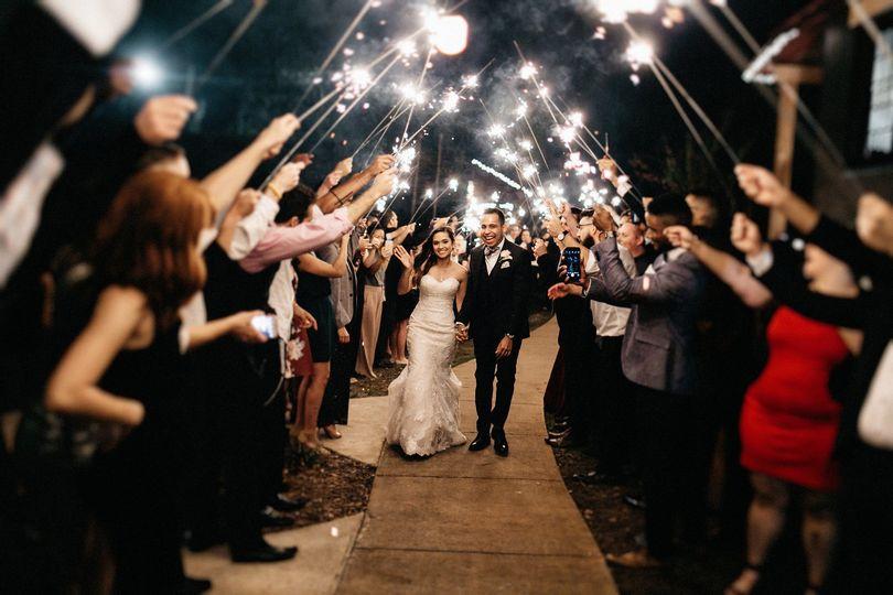 A sparkling send-off