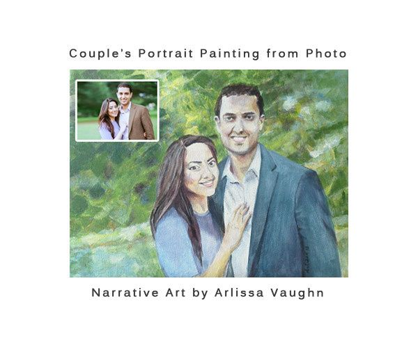 couples portrait painting from photo arlissa vaugh