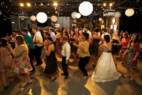 wedding reception dancing rocketown
