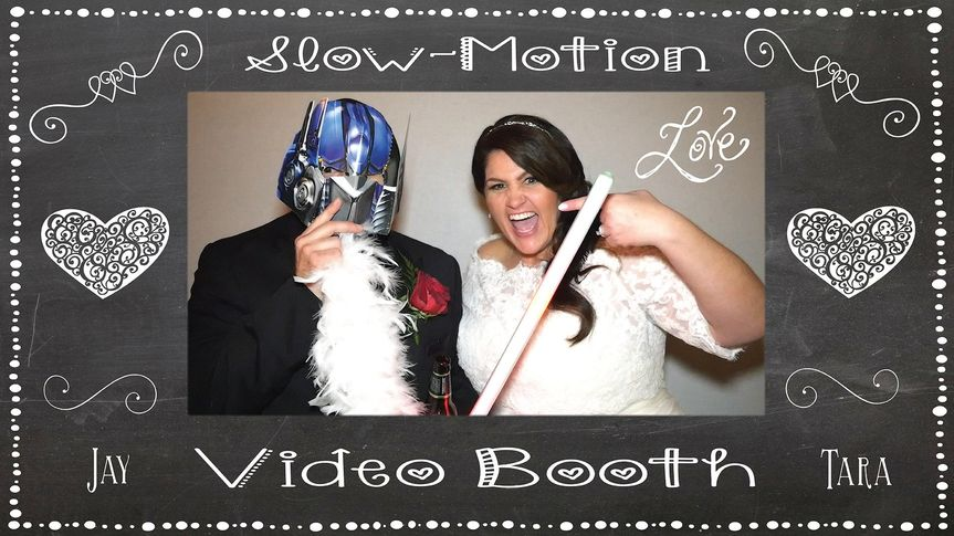 Our Slo-Mo Video Booth at Jay & Tara's reception!  It wasn't too hard to get these guys to have fun...