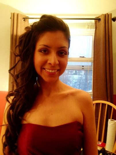 This Bridesmaid I did makeup on said she felt the prettiest and most glamorous ever! 1.4.13