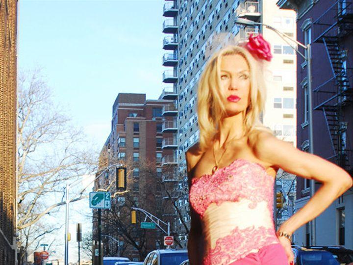 Tmx 1399562952160 Pink Gown Spanish Hoboken wedding dress