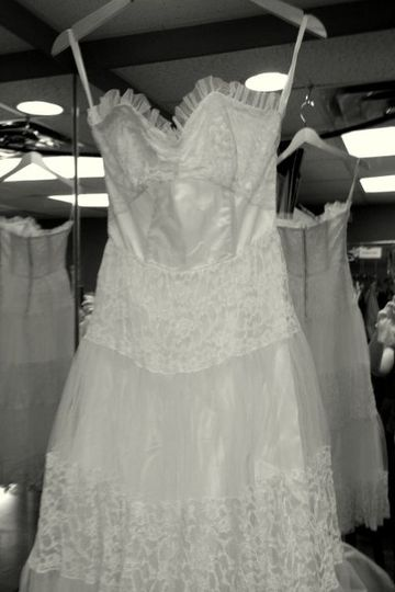 A 64 year old yellowed gown