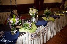 bridal party reception table reduced