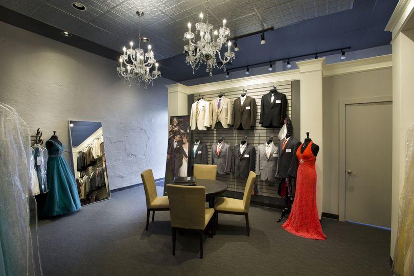 Tuxedo and dresses