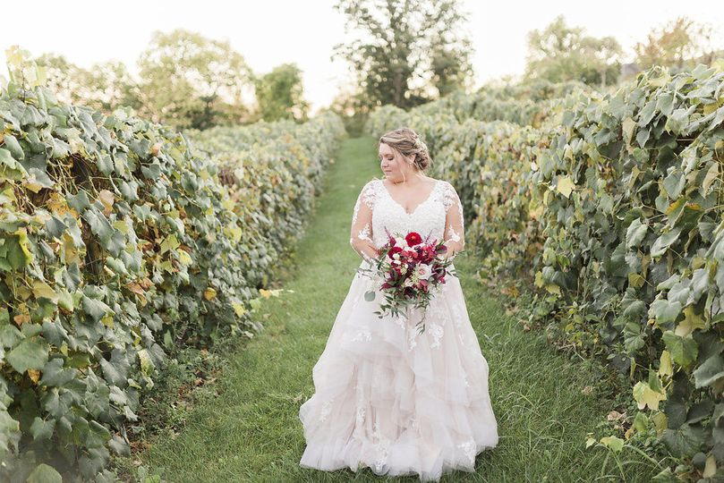 Bride in the vineyard