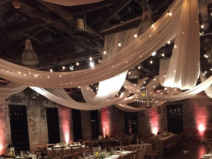 Tmx 1458049627204 Cream Swags With Marquee Lighting Baltimore, MD wedding eventproduction