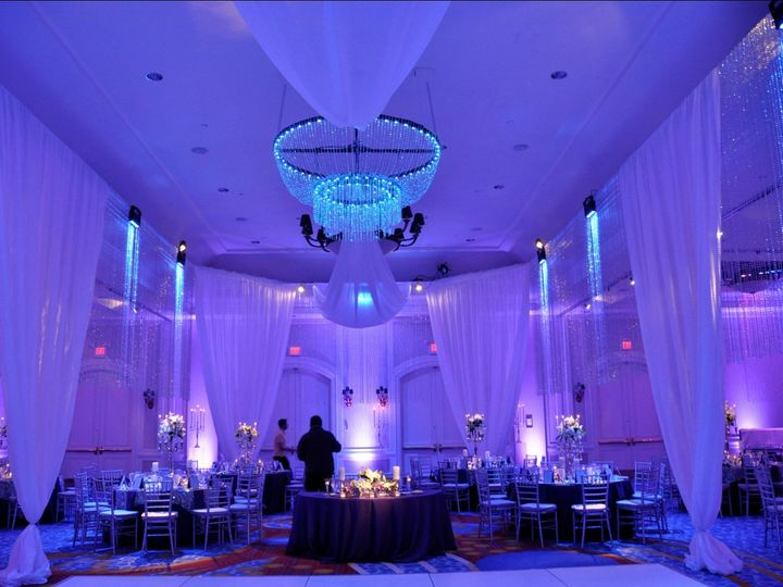Tmx 1458049808223 Blue Purple Lighting Beaded Curtains Icy Baltimore, MD wedding eventproduction