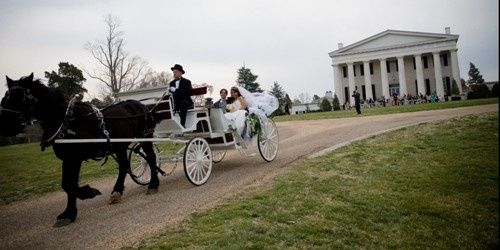 Carriage for the newlyweds