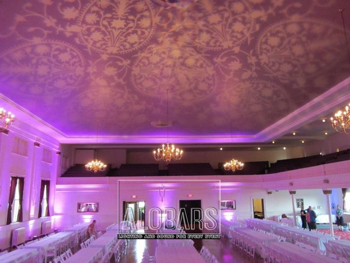 Gobo ceiling projection