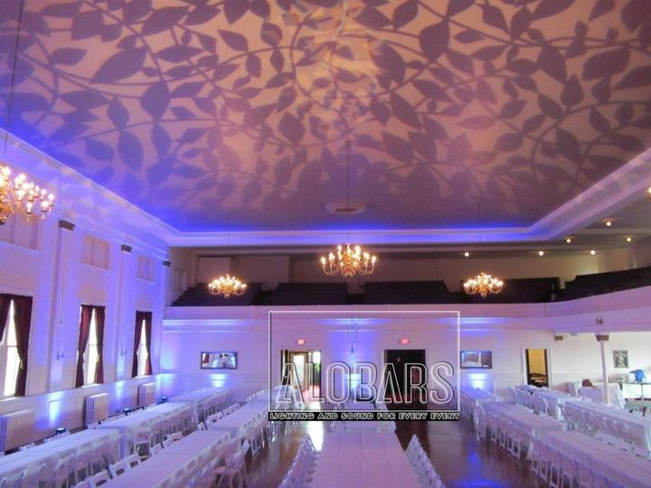 Lighting at Franklin Room, Gobo Projected on Ceiling