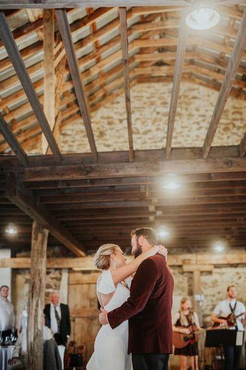 Breezeway barn first dance