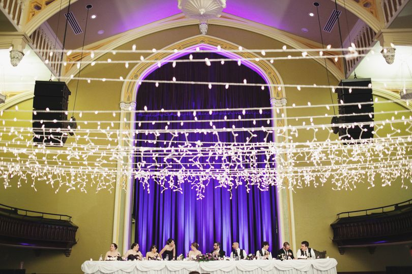 Head table and guests
