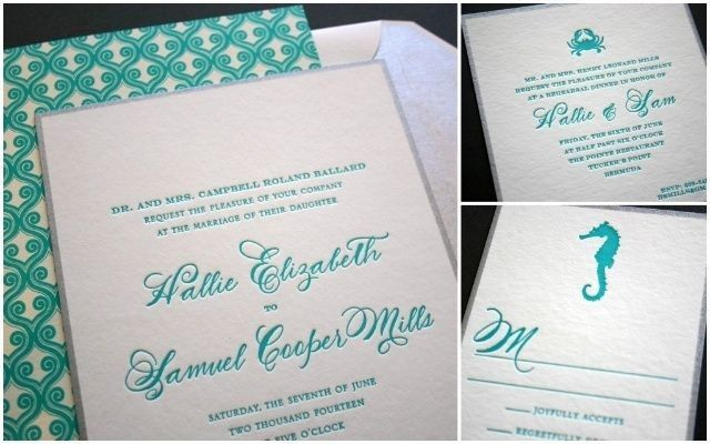 smock letterpress invitation