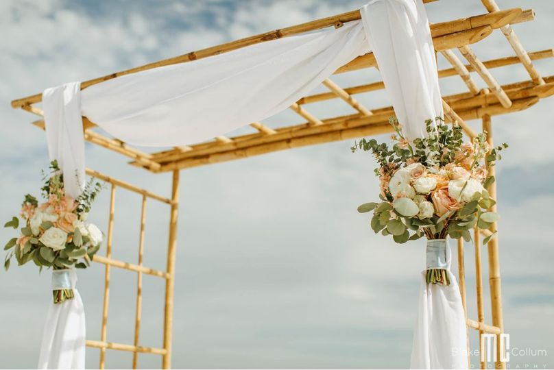 Arbors serve as the perfect backdrop to your ceremony - and ours are included in every package!