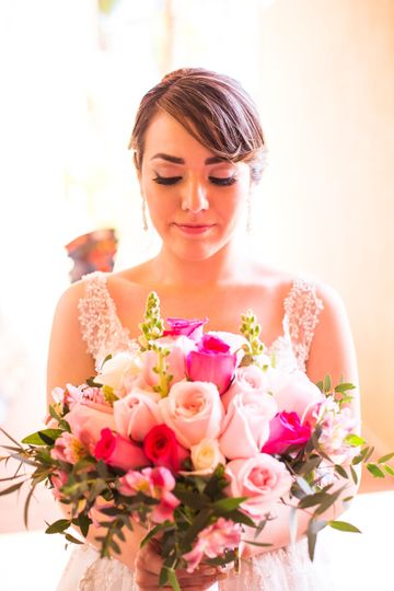 Beautiful flowers,beautiful bride