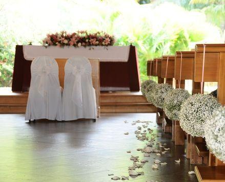 Catholic wedding decoration
