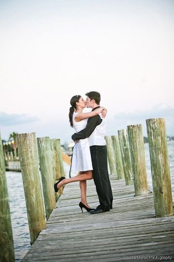 Kiss on the dock
