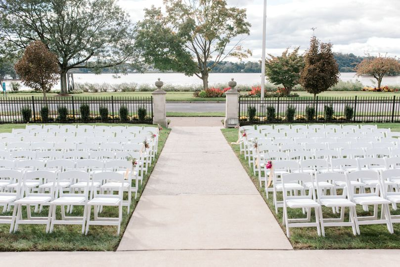 Aisle for the ceremony
