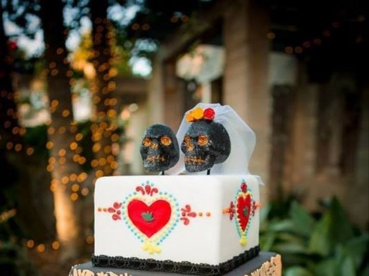 Tmx 1445555532302 Cutthecake Day Of The Dead Haines City, FL wedding cake