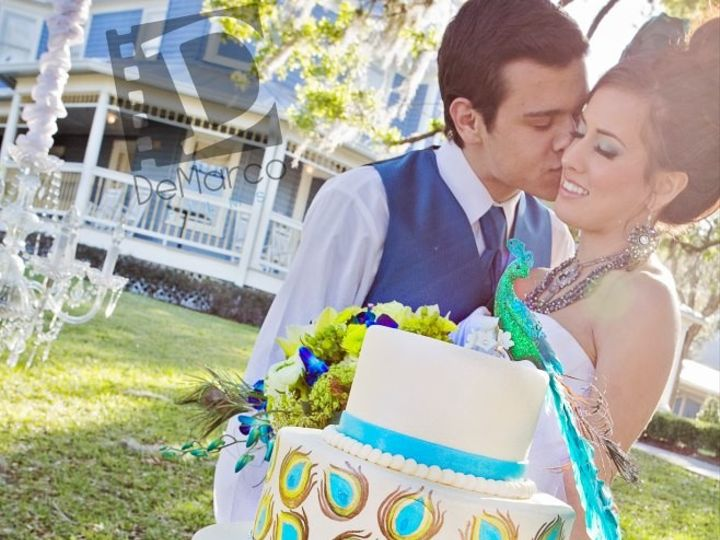 Tmx 1445556054759 Peacock Photo Shoot Haines City, FL wedding cake