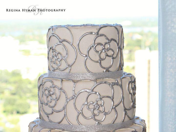 Tmx 1445557771711 Silver Flower Cake Haines City, FL wedding cake