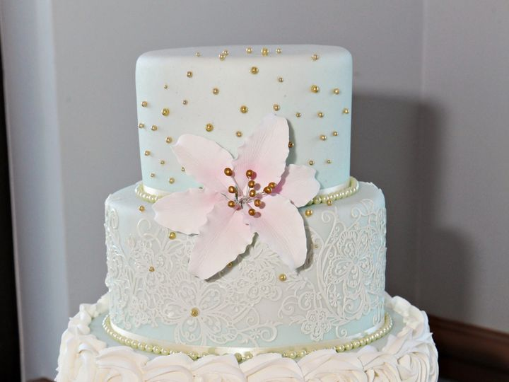 Tmx 1445557884786 Mint Green Cake With Stand Haines City, FL wedding cake