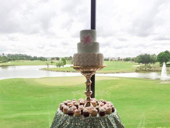 Tmx 1445557900129 Mint Green Dessert Table Haines City, FL wedding cake