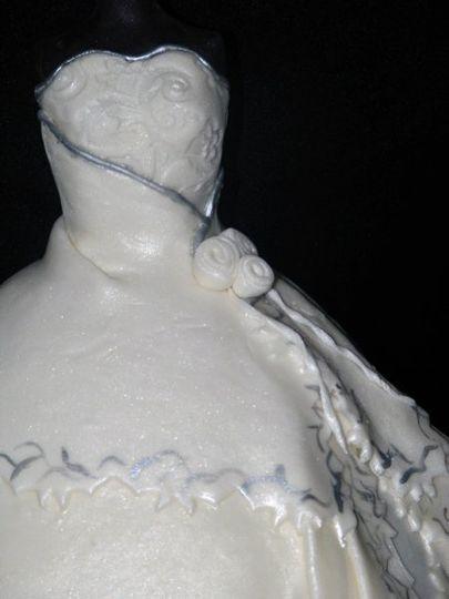 Bridal shower cake detail