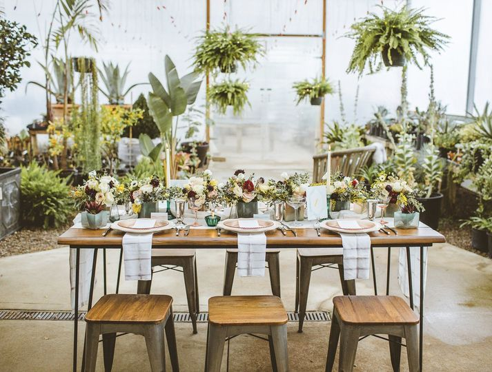 Floral wedding venue