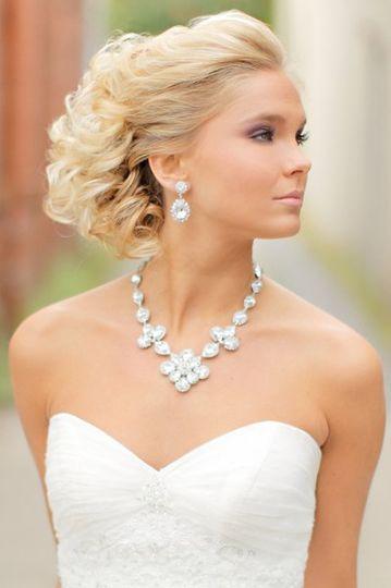 Bride wearing jewelry