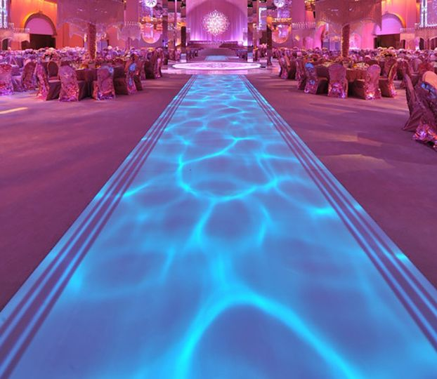 nyc wedding lighting floor aisle lighting