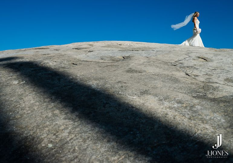 bride rock at chapel