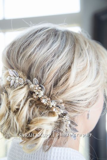 Updo with hair accessories