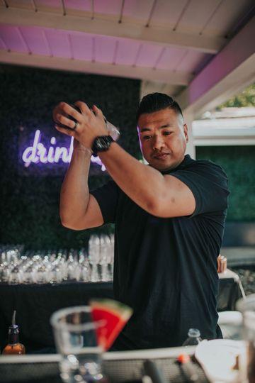 Lead bartender Ang
