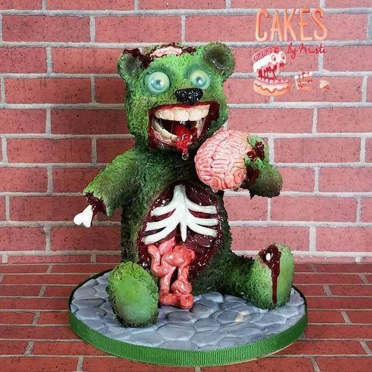 Zombie Teddy Bear Cake