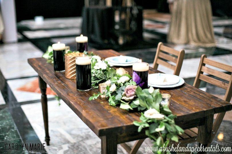 A Bushel And A Peck Vintage Rentals Event Rentals Lenoir NC - Farm table austin