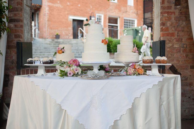 White cakes